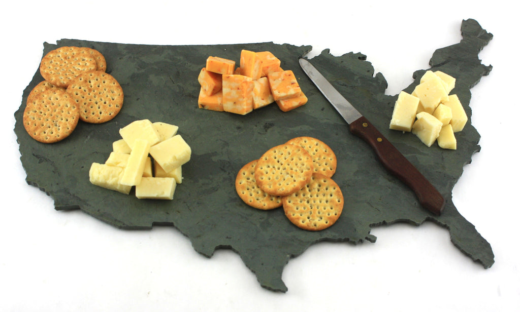 United States Slate Cheese Board  sc 1 st  Bison Hill Stonecrafts & United States Slate Cheese Board- Personalized with Laser Engraving ...