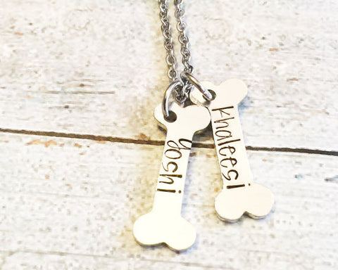 Dog tag - Hand stamped dog tag - Custom dog tag -