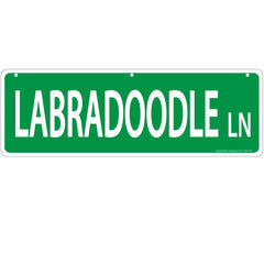 Imagine This Labradoodle Street Sign
