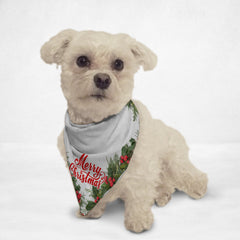 White Holly Merry Christmas Cat & Dog Bandana