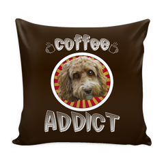 Coffee Addict Doodle Pillow with Insert
