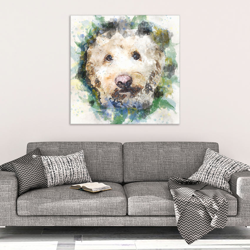 Watercolor Blast Doodle Canvas Wall Art