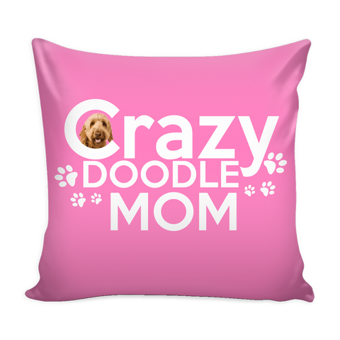 Crazy Doodle Mom Pillow with Insert