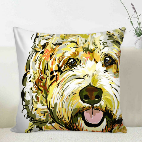 Doodle Pillow Case Brown Black and Blonde Pillows - Devoted to Doodles