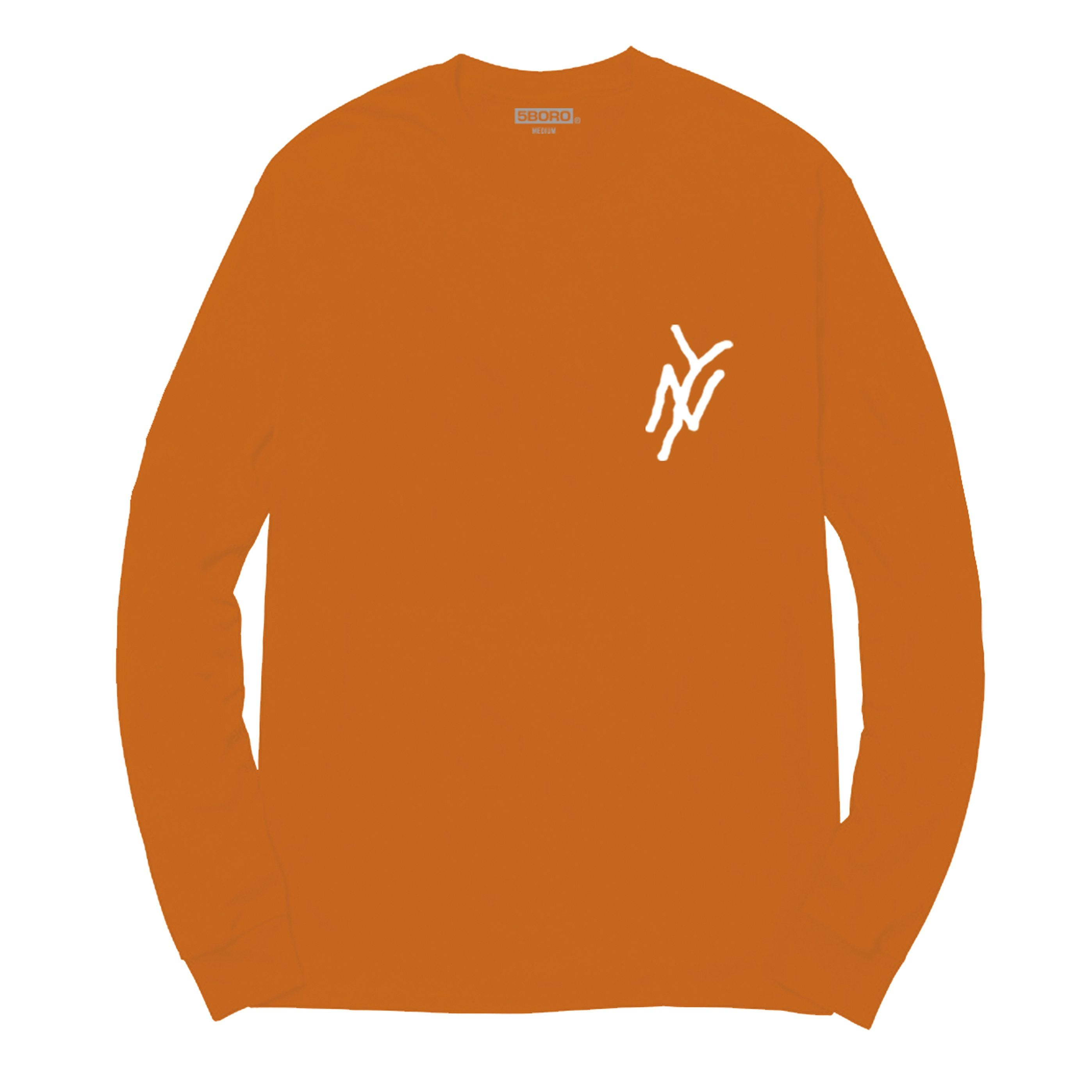 5Boro NY MONOGRAM L/S ORANGE