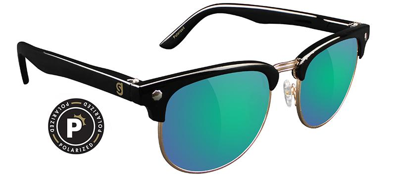 Glassy Morrison Polarized Black/Green Mirror