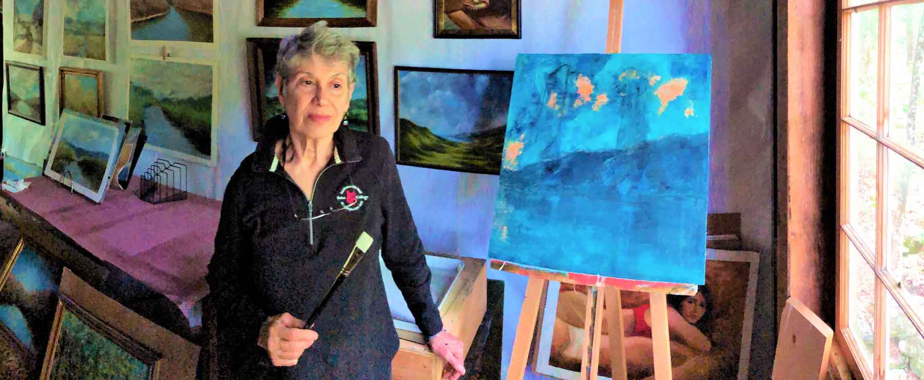 VT artist Laurie Alberts at DaVallia Gallery