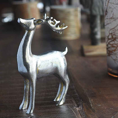Decorative Silver Reindeer