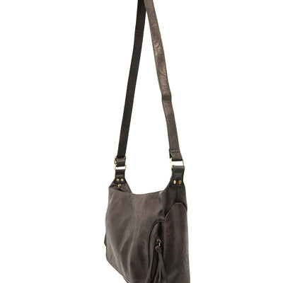 Vintage Inspired Hobo Crossbody - Espresso