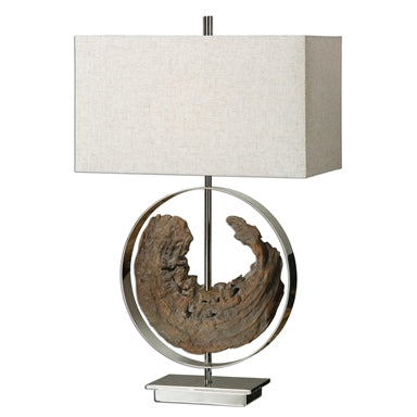 Driftwood Ring Lamp