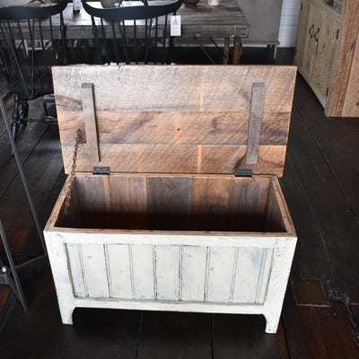 Cream Reclaimed Table/Chest