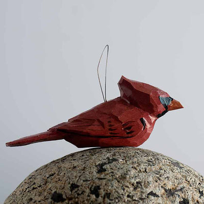 Hand Carved Birds Ornaments