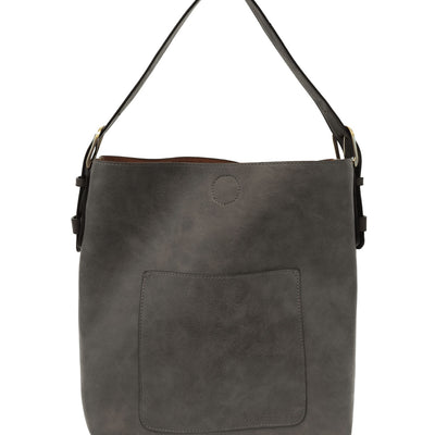 Vegan Leather Charcoal Tote Bag
