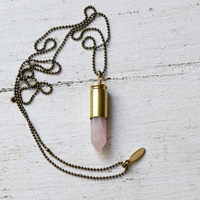 Crystal Point Casing Necklaces