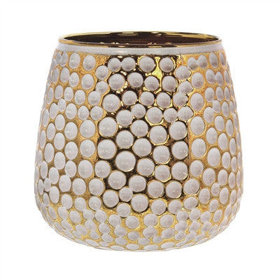 White and Gold Candle Holder
