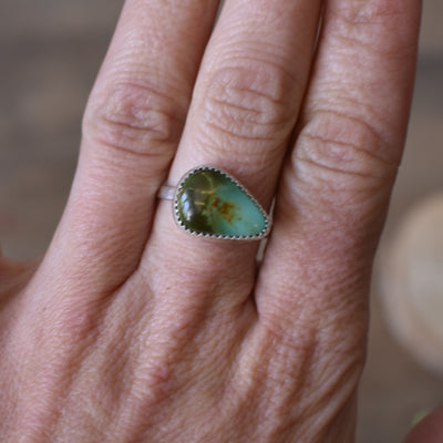 Pear shaped Royston Turquoise  Ring