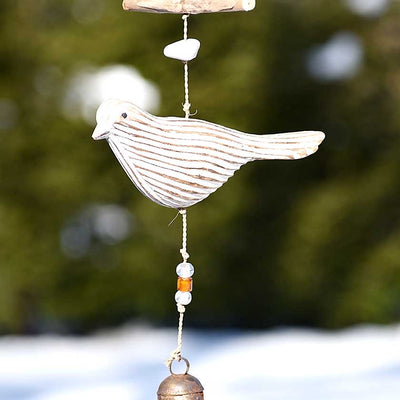 Ruffled Feathers Driftwood Bird Chime