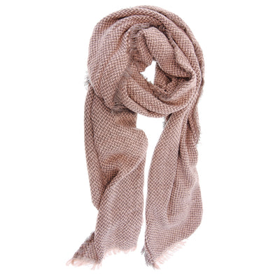 Tea Rose Herringbone Scarf