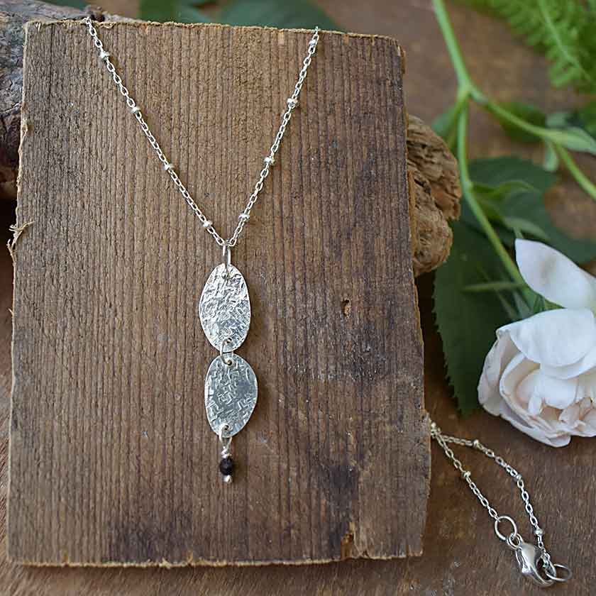 Sterling Pebble Necklace