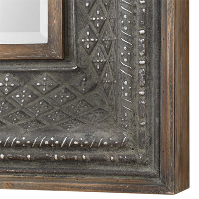Embossed Diamond Mirror