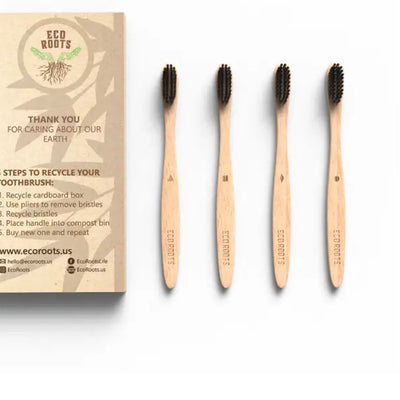 Natural Bamboo Toothbrush - Set of