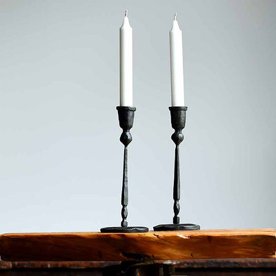 Black Iron Candlestick