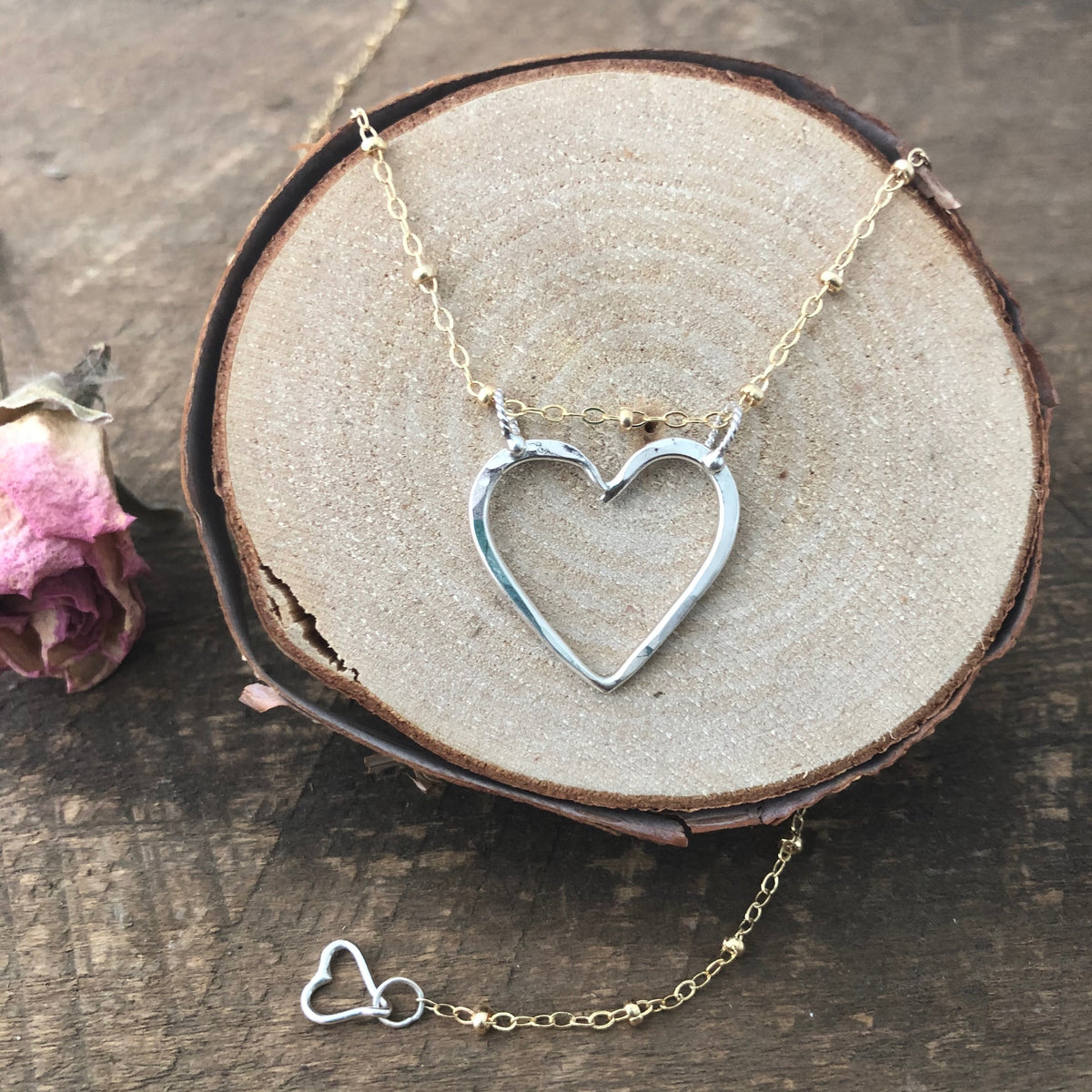 Heart Centered Heirloom Necklace