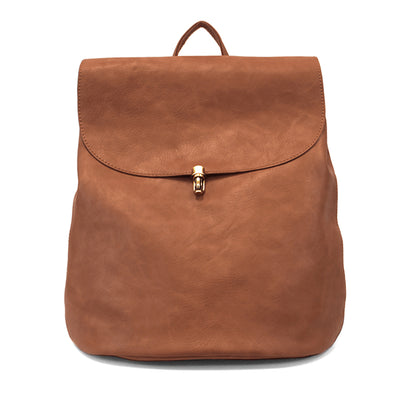 Vegan Leather Backpack-Saddle