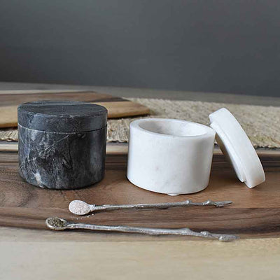 Marble Salt & Pepper Jars