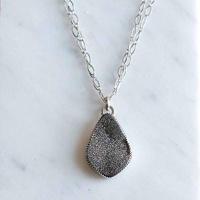Silver Druze Necklace
