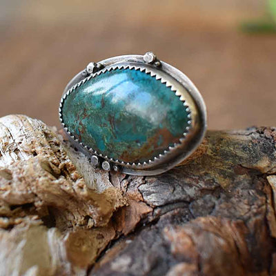 Sterling Chrysoprase Ring