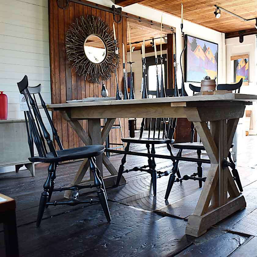 Handcrafted in Vermont Trestle table