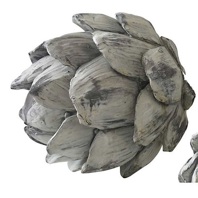 Decorative Grey Washed Artichokes