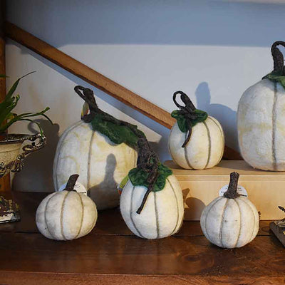Felted White Pumpkin - MD