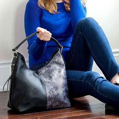 Kara Black Vegan Handbag