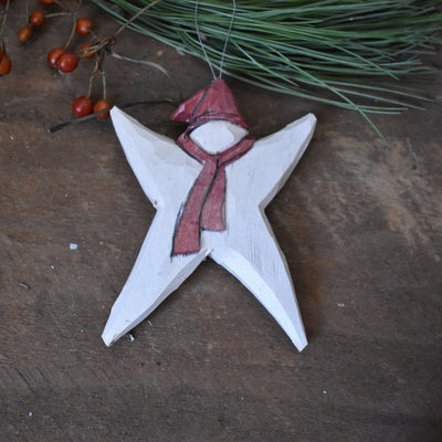 Star with scarf ornament