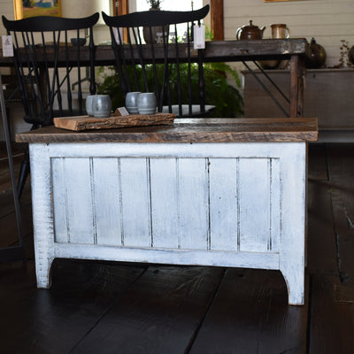 White Reclaimed Table/Chest