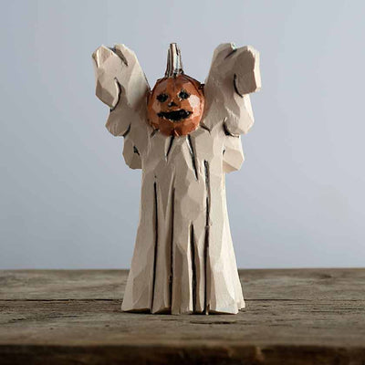 Hand Carved Pumpkin Ghost Carving