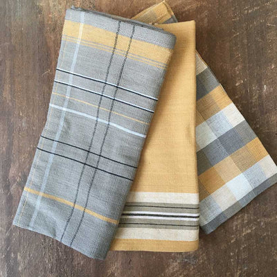 Mustard Woven Dish Towel- Set of 3