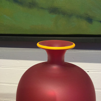 Frosted Blown Glass Vase