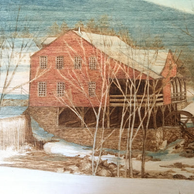 detail of Woodburning by Vermont artist, Heather Cannistraci