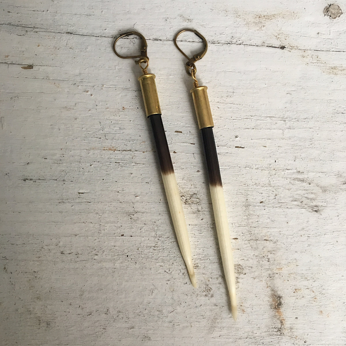 Porcupine Bullet Earrings
