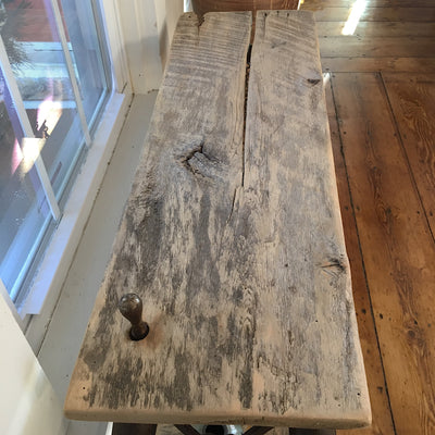 Sculptural Rustic Sofa Table