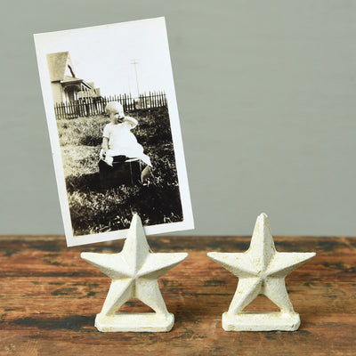 Cast Iron Star Place Card Holder