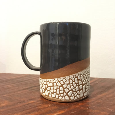Grey Crackle Stoneware Mug
