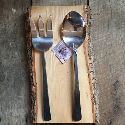 Hand Forged Stainless Server Set