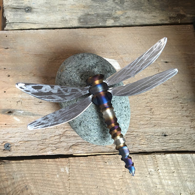 Handcrafted Steel Dragonfly