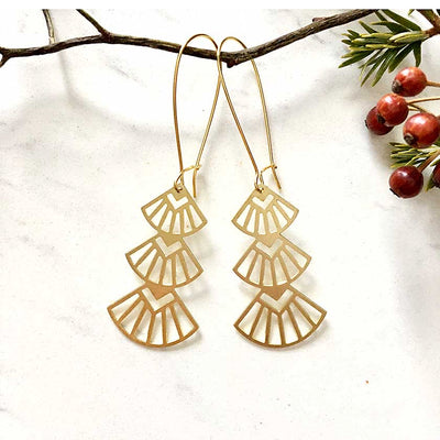 Art Deco Triangles Earrings