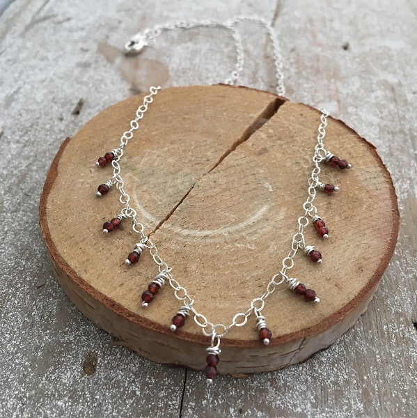 Garnet Cascade Necklace