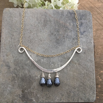 Bouyant Necklace- Silver